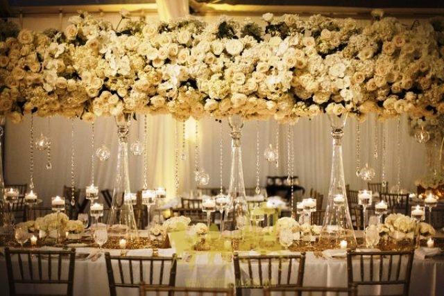 رومیزی نگین کاری چیدمان و تزیین میز شام سلف سرویس عروسی